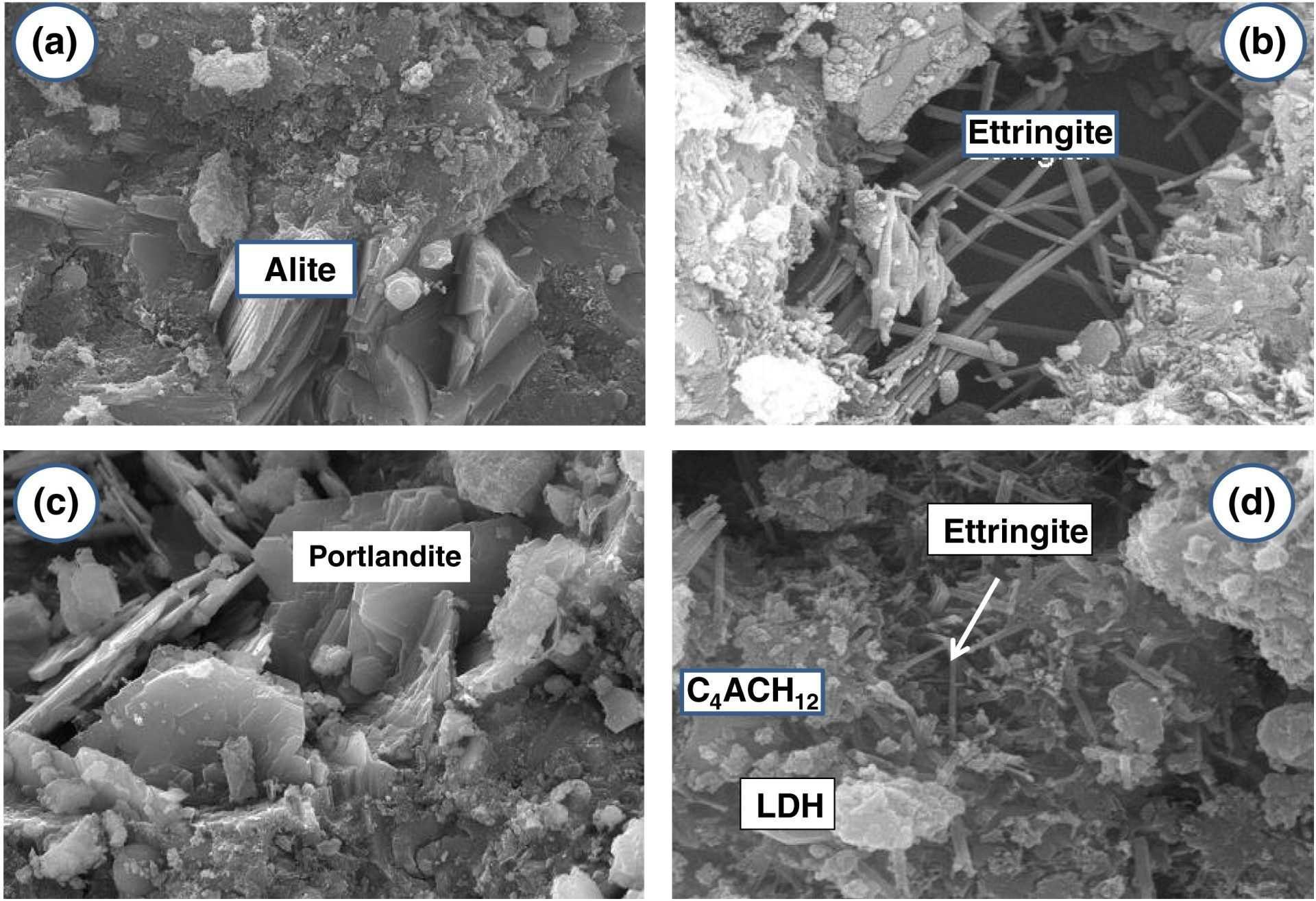 Kristali ki se tvorijo v cementu
