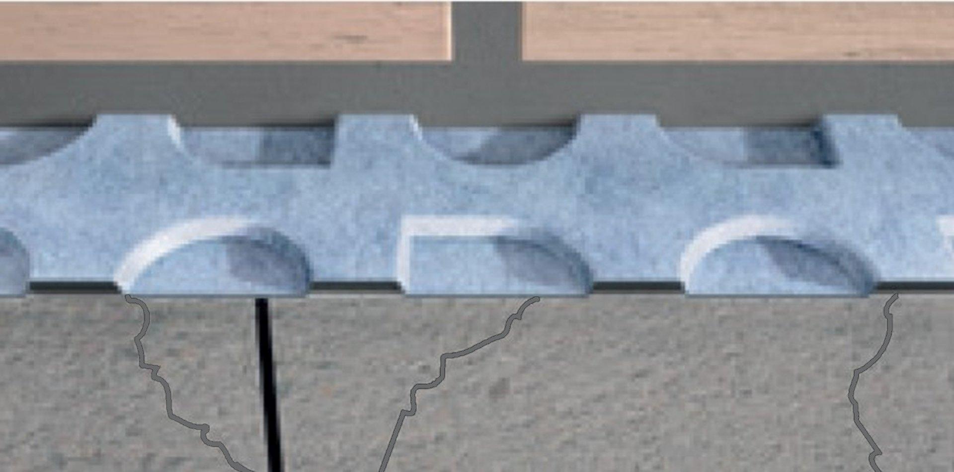 Prodeso membrana na razpokani podlagi