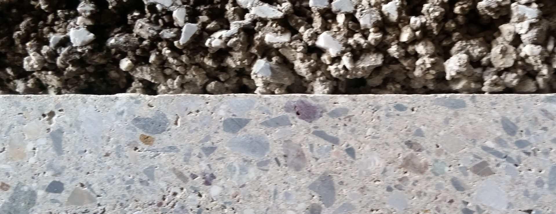 Razlika v prerezu tlaka in betona ozka