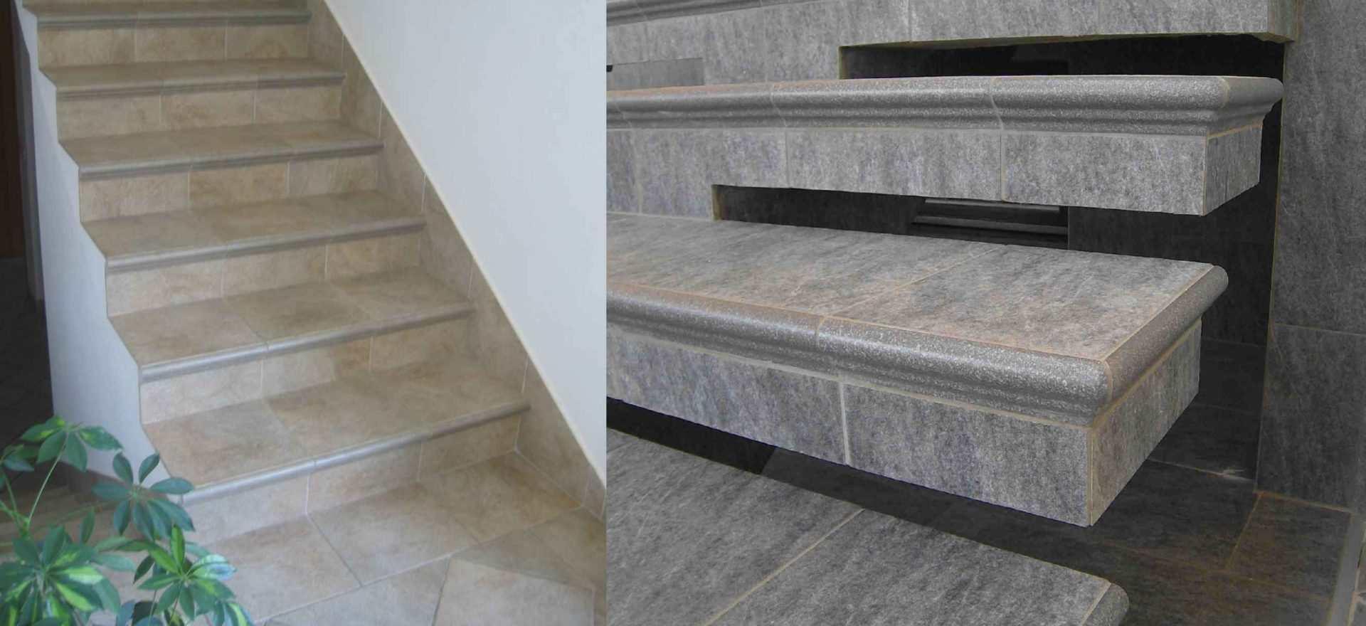 Stopnice s klasicnimi elementi