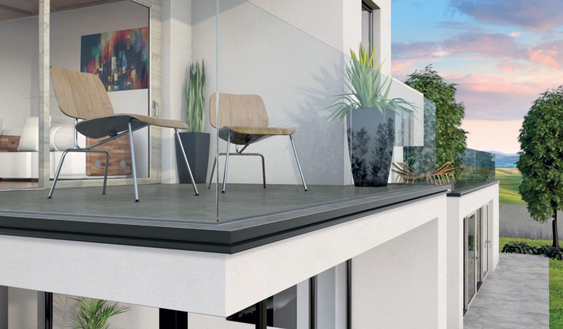 Odkapni profil na terasi