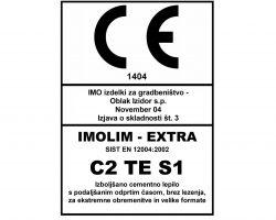 CE znak za IMOLIM EXTRA s podlago