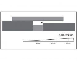 Meritev razlike med dvema sosednjima ploscicama1