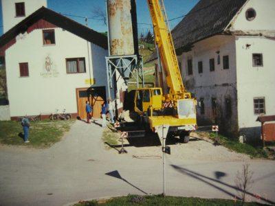 Postavitev prvega silosa ob najetih prostorih v gasilskem domu