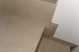 detajl resevanja napacno betoniranih stopnic s stanjsano obrobo