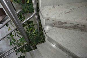 detajli vogalnega elementa zavitega stopnišča